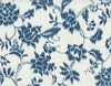 INDIGO SUMMER: Cream Floral Vines (1/2 Yd.)