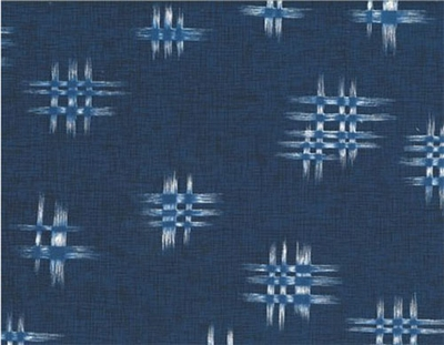 INDIGO SUMMER: Indigo Blue Cross Hatch