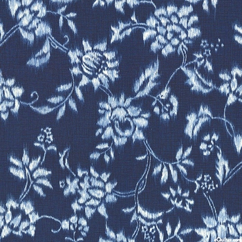 INDIGO SUMMER: Indigo Blue Floral Vines