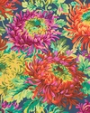 JAPANESE MUMS: Navy Blue from Kaffe Fassett Collective