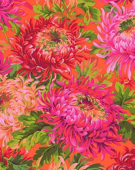 JAPANESE CHRYSANTHEMUMS: Red from Kaffe Fassett Collective