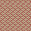 JAPANESE GARDEN - Red Cherry Blossom Geometric (By the Half Yd)