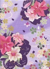 Japanese Kimono Design in Purple with Gold Metallic