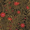 KAFFE FASSETT: Ferns: Black, Red, Golden Yellow (1/2 Yd.)