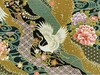 KIMONO COLLECTION: Black Crane Landscape (1Yd.)