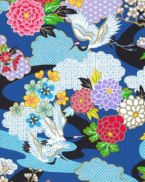 KIMONO COLLECTION: Blue Floral Garden