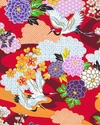 KIMONO COLLECTION: Red Floral Garden