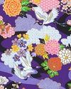 KIMONO COLLECTION: Purple Floral Garden