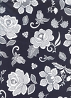 Lacy Flowers: - Indigo & White