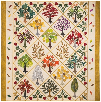 """Leafy Ladies"" Quilt by Carole in Wilmette, IL"
