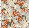 MT. FUJI: Plum Blossoms - Gray/Gold (1/2 Yd.)