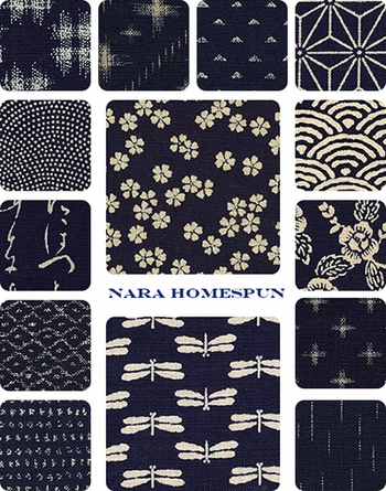 NARA HOMESPUN COLLECTION: 14 Indigo Designs