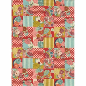 PATCHWORK: Japanese Modern - Red (By the Half Yd)