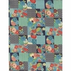 PATCHWORK: Japanese Modern - Teal (By the Half Yd)