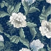 NEW!  PEONIES by William Morris: Royal Blue (By the Half Yard)