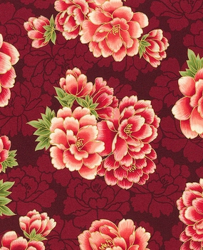 Peony Clusters: Red/Gold Metallic