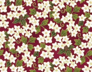 Floral Vines - Red/Gold (1/2 Yd.)
