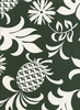 Pineapples & Foliage: Forest Green (1/2 Yd.)