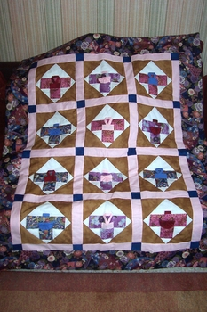Quilt of Kimonos by Anne-Marie in France