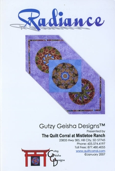 'RADIANCE' Table Runner Pattern by Gutzy Geisha Designs