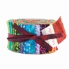 "SALSA BATIKS: Jelly Roll - Set of 40 - 2 1/2"" x WOF Strips"