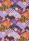 Scallop Design with Traditional Motifs: Purple w/ Gold Metallic