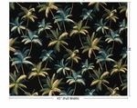 Swaying Palm Trees - Beauty of the Tropics - Black - BTY