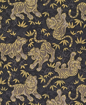 TORA COLLECTION: Black/Gold Tigers