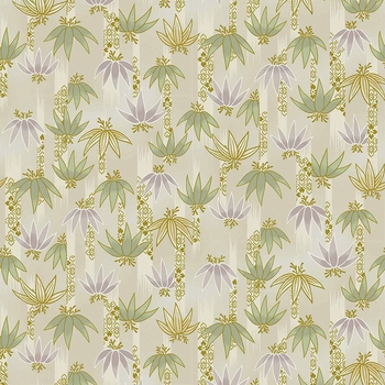 TORA COLLECTION: Cream Bamboo Clusters (1/2 Yd.)