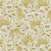 TORA COLLECTION: Cream/Gold Tigers(1/2 Yd.)