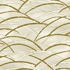 TORA COLLECTION:  Ivory/Gold Bending Bamboo Grove (1/2 Yd)