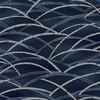 TORA COLLECTION: Navy Blue Bending Bamboo Grove (1/2 Yd.)