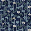 TORA COLLECTION: Navy Blue Bamboo Clusters (1/2 Yd.)