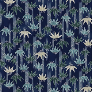 TORA COLLECTION: Navy Blue Bamboo Clusters