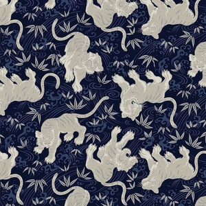 TORA COLLECTION: Navy Blue Tigers