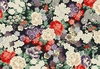 TORI COLLECTION: Floral Dreamscape - Black/Silver Metallic (1/2 Yd.)