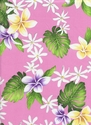 Tropical Flowers & Monstera: Pink (1/2 Yd.)