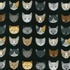 WHISKERS & TAILS by R. Kaufman - Black (1/2 Yd.)
