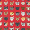 WHISKERS & TAILS by R. Kaufman: Red (1/2 Yd.)