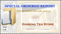 Special Order Report $100