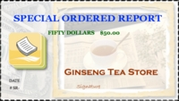 Special Order Report $50.00