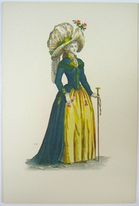 1780s French Fashion Series Style 04
