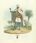 A Knight Templar of the KIV Century in his military habit, 1300.