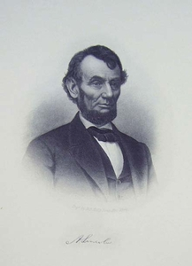 A. Lincoln -  Engraver: H.B.Halls