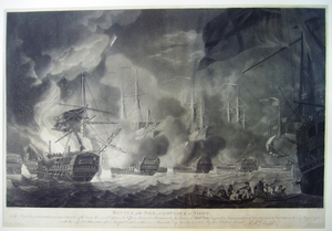 Battle of the Nile, near Midnight