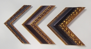 Black and gold wood frames