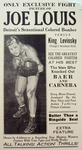 "Boxing - ""Only Exclusive Fight Picture of Joe Louis"" Film Advertisement"