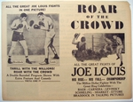 "Boxing - ""Roar of the Crowd"" Joe Louis Film Advertisement"