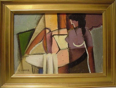 Claude Lacaze - Nu Cubiste Allonge SOLD