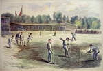 "Cricket - ""The Cricket Match between the Australians and the New Yorkers"""